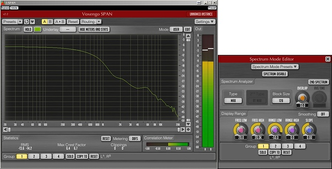 Voxengo Span VST v.2.2 blocksize 128 by deep!sonic 18.10.2010