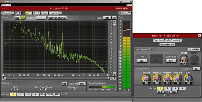 Voxengo Span VST v.2.2 blocksize 32768 by deep!sonic 18.10.2010
