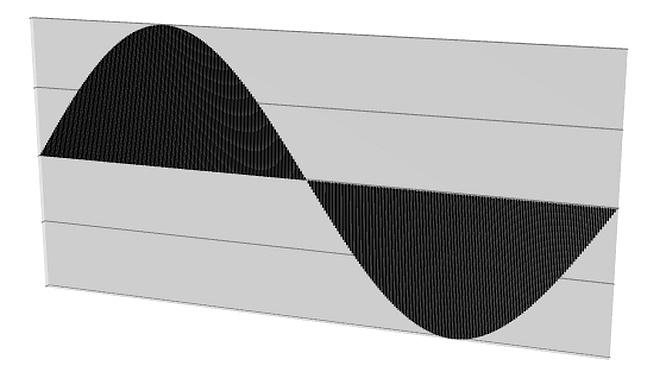 Sinus Wave 140Hz 3D, Samplingrate 44,1kHz (CD), by deepsonic.ch 29.10.2009