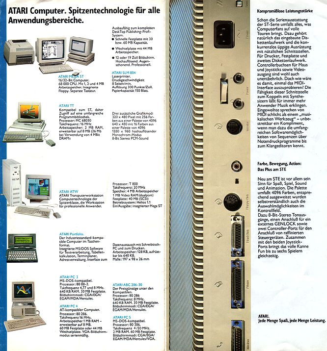 Atari Brochure 11.1989 - Scan by deep!sonic 01.2005