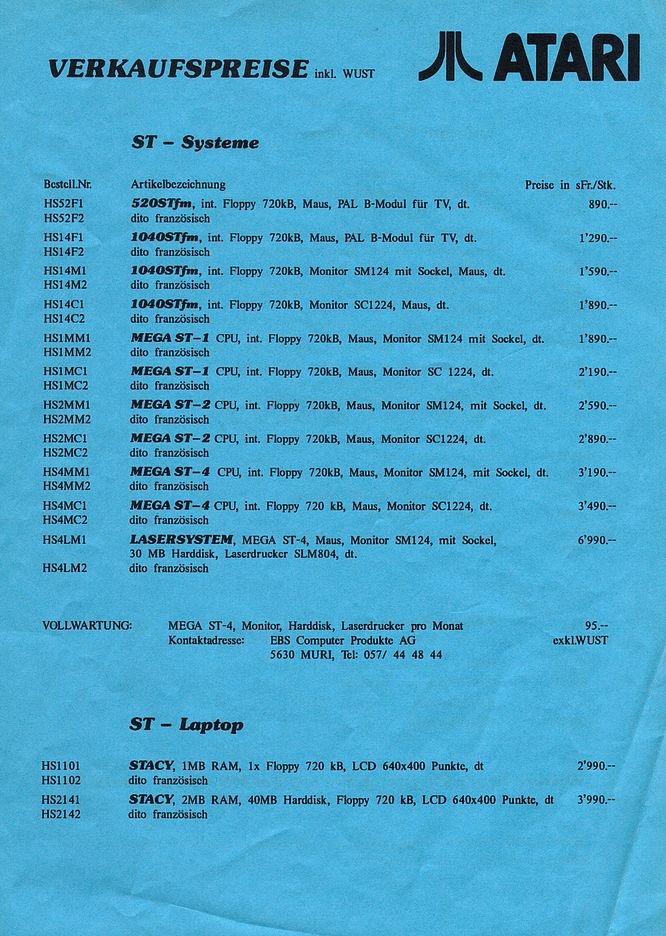 Atari Brochure 09.1989 (1,55 SFr = 1 Euro) - Scan by deep!sonic 01.2005