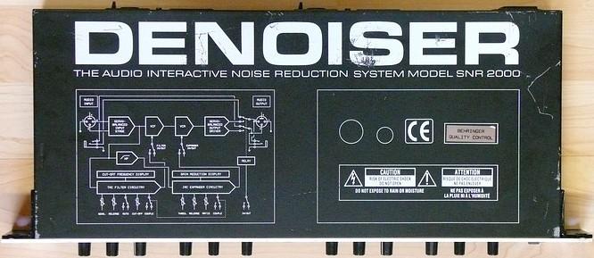 Behringer SNR2000 Denoiser by deep!sonic 11.2008