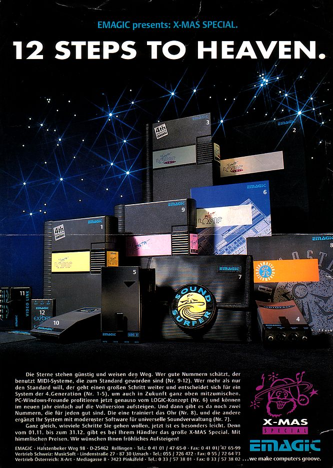 Emagic Brochure 1993 - Scan by deep!sonic 01.2005