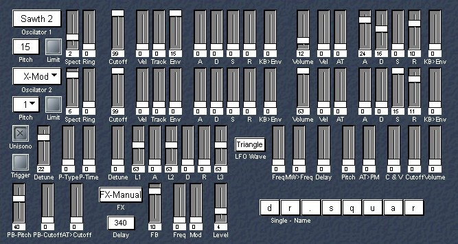 Korg DS-8 Editor in Logic Environment