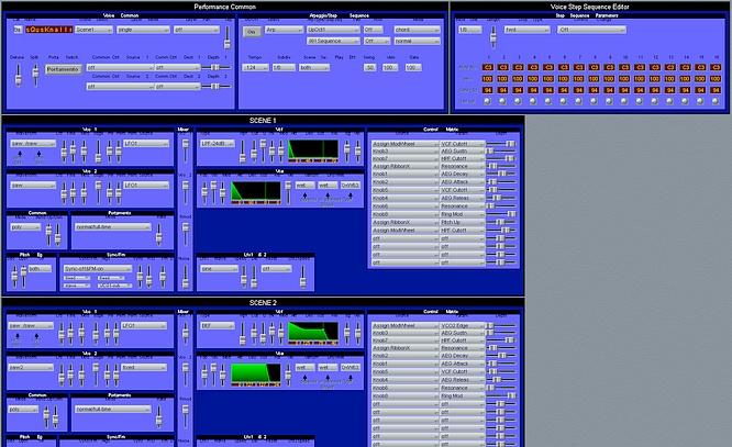 Yamaha AN1x Editor in Apple/Emagic Sounddiver @ deep!sonic 10.09.2009