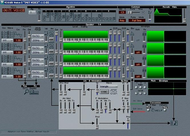 Yamaha V2 DX11 Editor Sounddiver by deepsonic 03.08.2009
