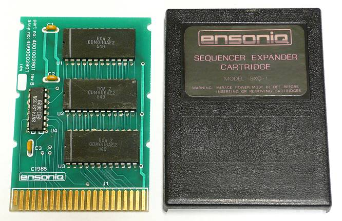 Ensoniq SXQ-1 Sequencer Expander Cartridge for Ensoniq Mirage by deep!sonic 23.12.2010