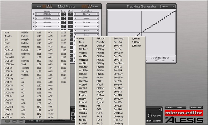 Hypersynth Alesis Micron Patch Editor v.2.1 by deepsonic 18.11.2011