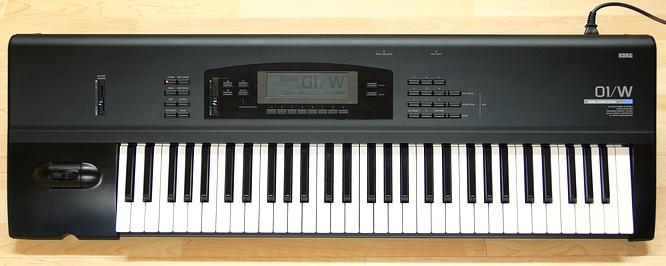 korg 01 w 1991 workstation 16 track sequencer synth. Black Bedroom Furniture Sets. Home Design Ideas