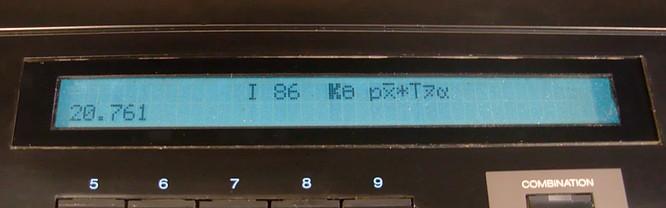 Korg DS-8 Error Display