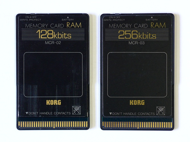 Korg MCR-02 128kbit and Korg MCR-03 256kbit Ram Cards by deep!sonic 26.02.2009
