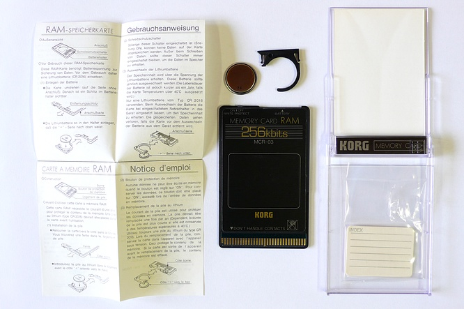 Korg MCR-03 256kbit Ram Card by deep!sonic 26.02.2009