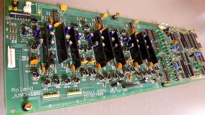 Module Board in Roland Juno-106 Juno106 by deep!sonic 18.01.2009