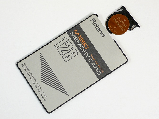 Roland M-128D Ram Card 16kB (128kb) for Roland D-/JV-Series by deep!sonic 29.10.2009