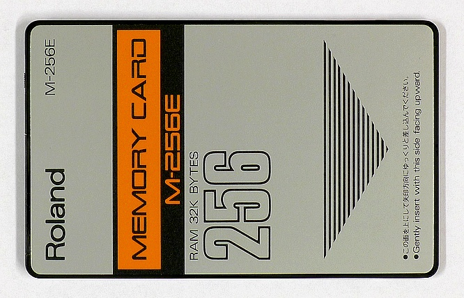 Roland M-256E Ram Card 32kB (256kb) for Roland D-/JV-Series by deep!sonic 14.01.2011
