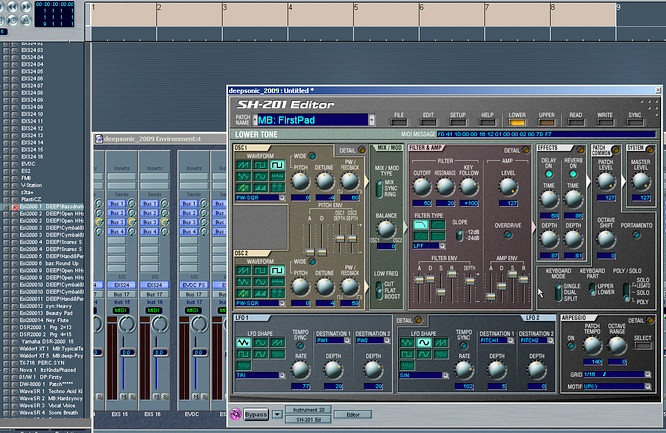 Roland SH-201 Editor v.1.10 VST by deep!sonic 28.06.2009