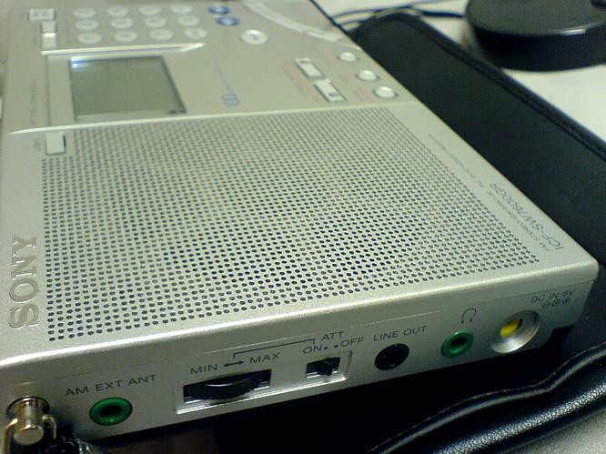 Sony ICF-SW7600GR Shortwave Worldreciver, 30.01.2007 by deepsonic.ch