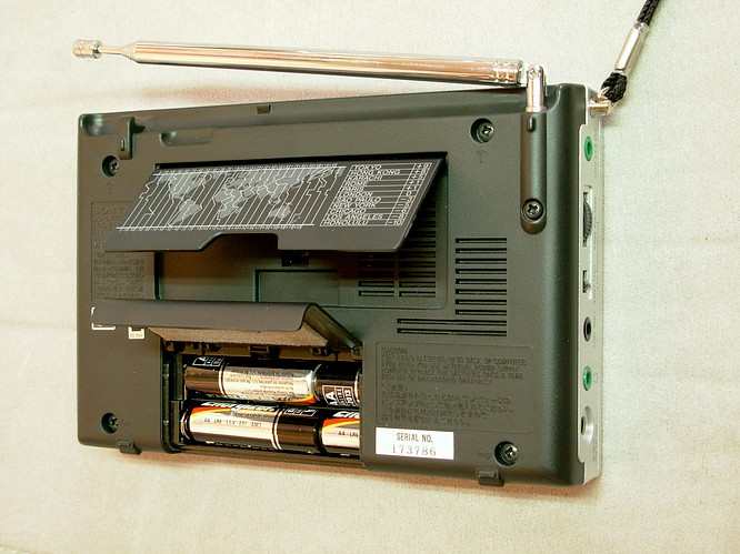 Sony ICF-SW7600GR Shortwave Worldreciver, 02.02.2007 by deepsonic.ch