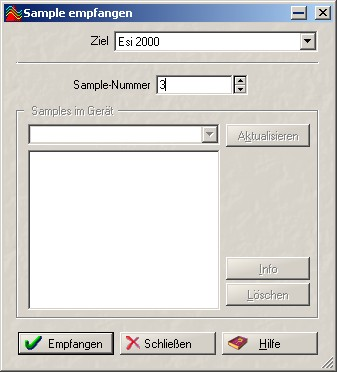 Screenshot about Sample Transfer in Steinberg Wavelab v.5.x by deep!sonic 12.2006