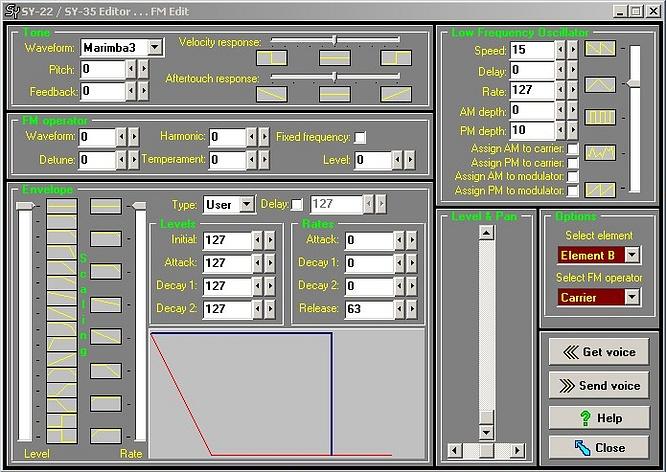 Editor Windows for Yamaha SY22 SY35 TG33 by deep!sonic 07.03.2010