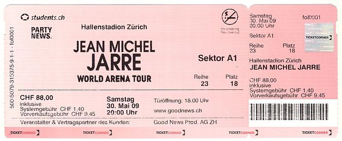 Jean-Michel Jarr� Zurich Hallenstadion 30.05.2009 - by deepsonic.ch