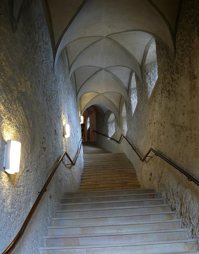 Treppe in Kloster Mariastein