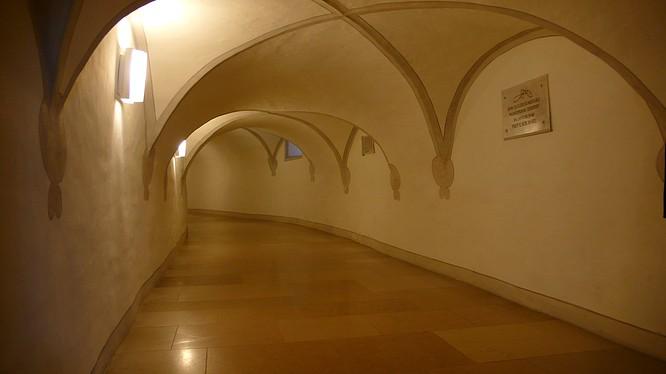 Gang in Kloster Mariastein