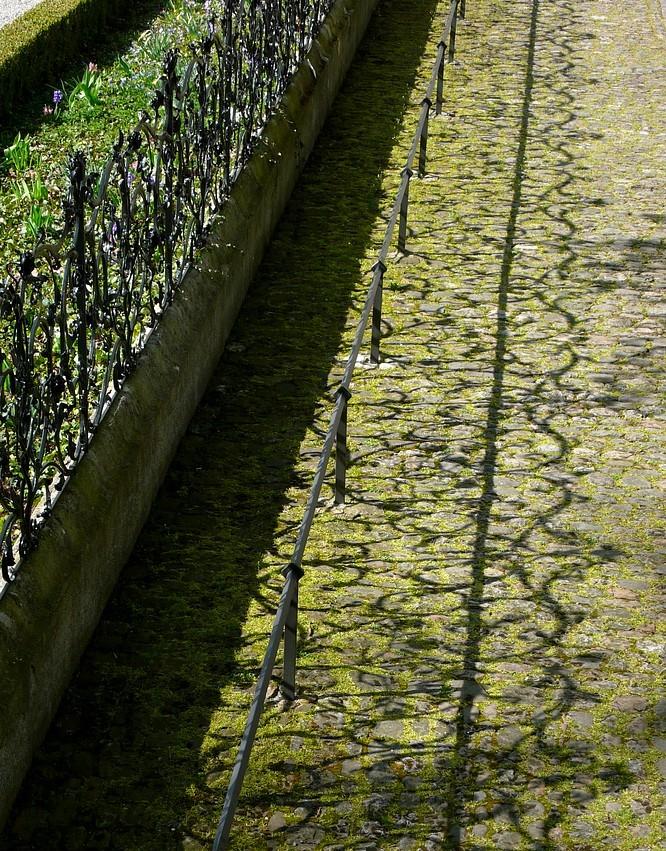 Geschmiedeter Zaun im Schloss Lenzburg