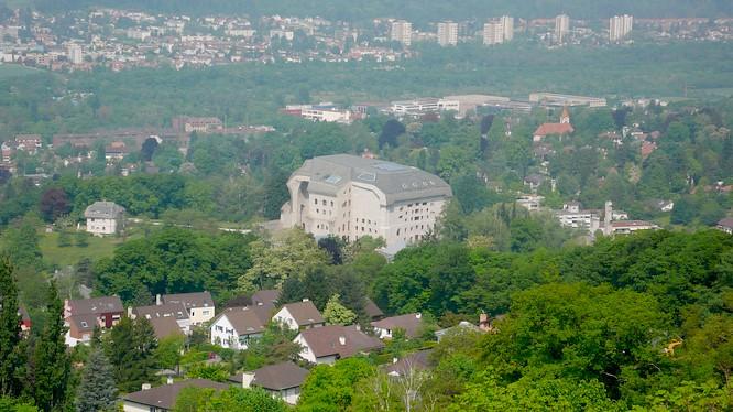 Sicht auf Goetheanum in Dornach