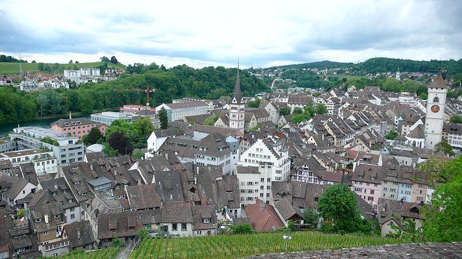 Aussicht vom Turm Munot auf Schaffhausen