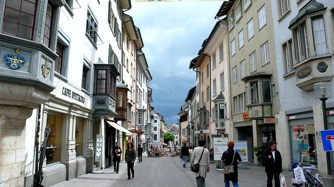 Unwetterstimmung in Schaffhausen