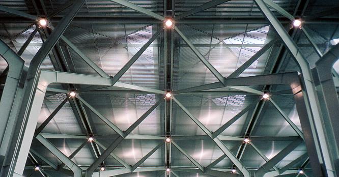 Dach des Flughafen in Basel/Mulhouse