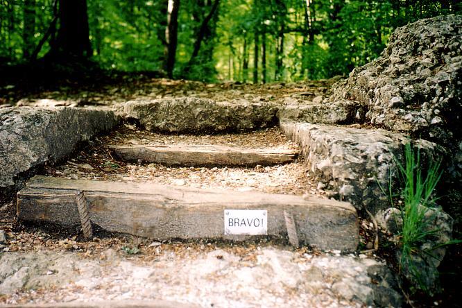 Tusiger-St�gli in Aarburg, nach 1149 Tritten