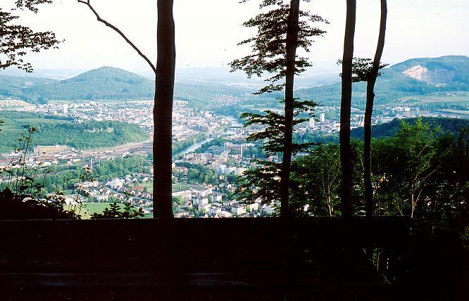 Aussicht oberhalb Trimbach auf Region Olten