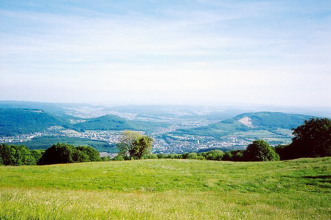 Aussichtspunkt auf Froburg �ber Region Olten