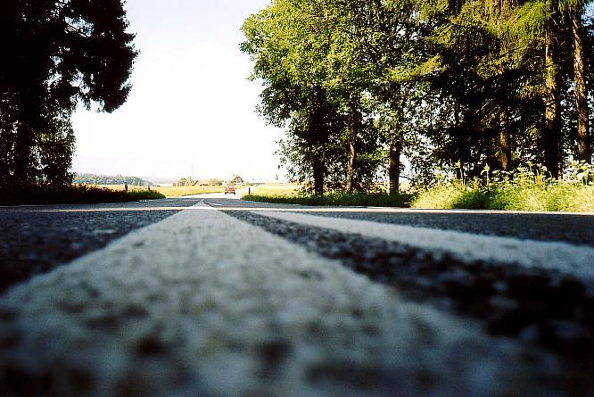 Strasse in Richtung Jegensdorf