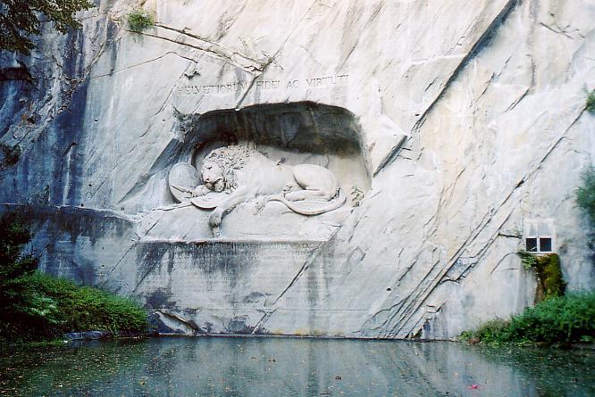 L�wen Denkmal in Luzern