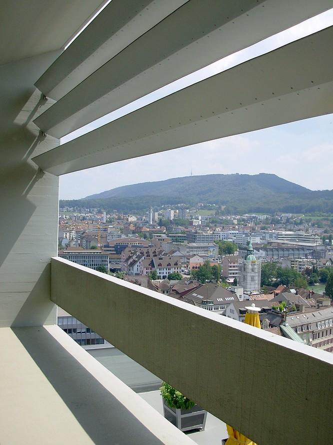 Sicht von Stadthaus in Olten nach SO