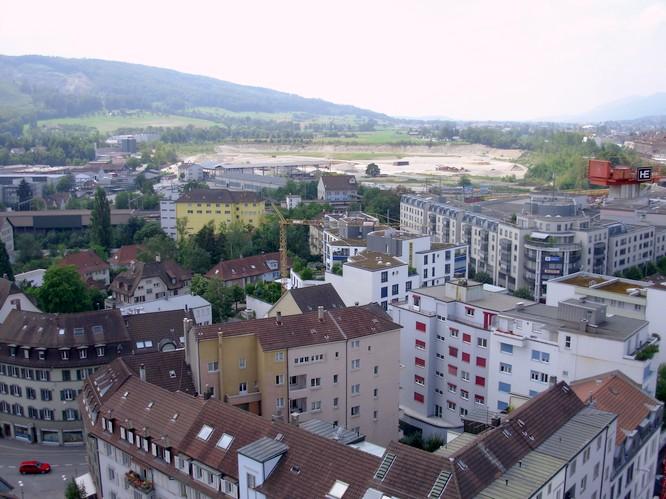 Sicht von Stadthaus in Olten nach W, SW-Olten