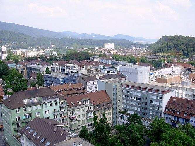 Sicht von Stadthaus in Olten nach NO