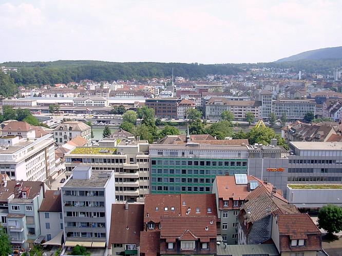 Sicht von Stadthaus in Olten nach O