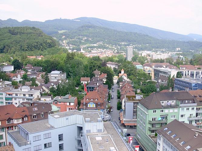 Sicht von Stadthaus in Olten nach NW