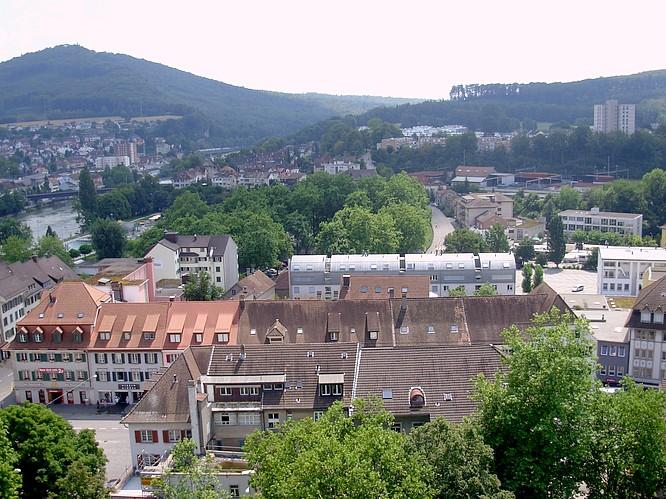 Sicht von Stadthaus in Olten nach S