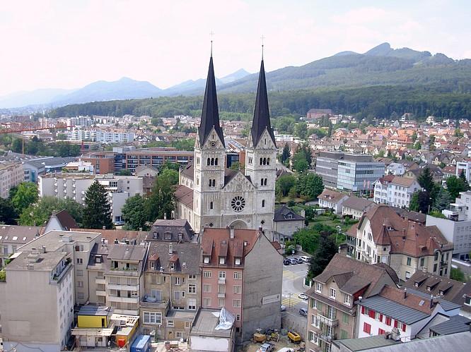 Sicht von Stadthaus in Olten nach W
