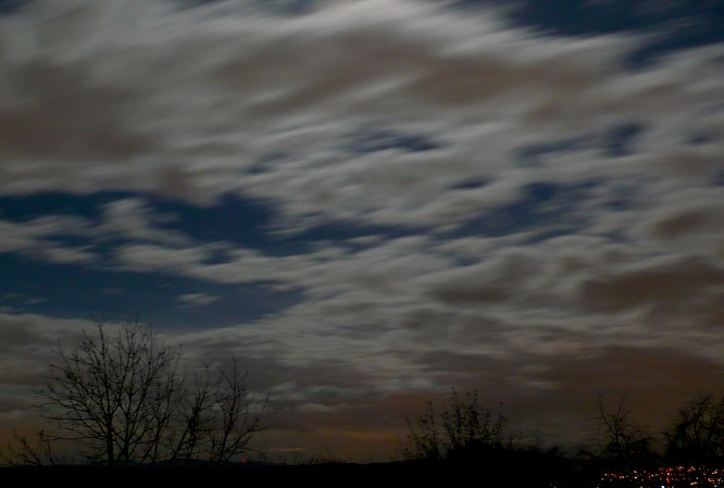 Nachthimmel, Sicht von Wartburg bei Olten