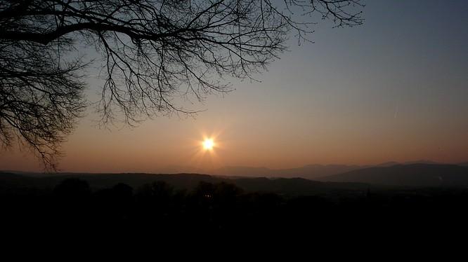 Sonnenuntergang, Zofingen Heiteren