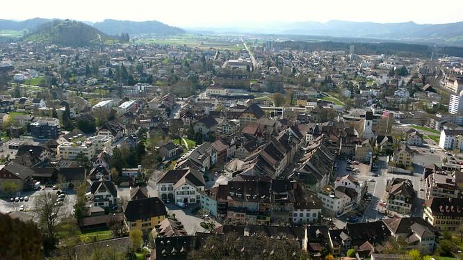 Lenzburg, Sicht nach W