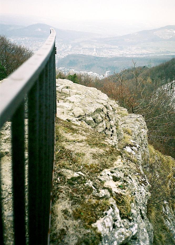 Burgruine Froburg um Olten, Blick gegen S�den