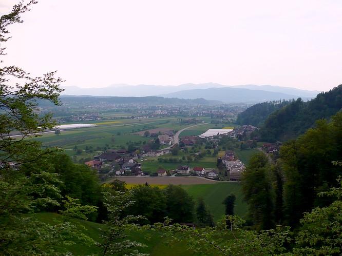 Sicht von Schloss Wikon nach Zofingen