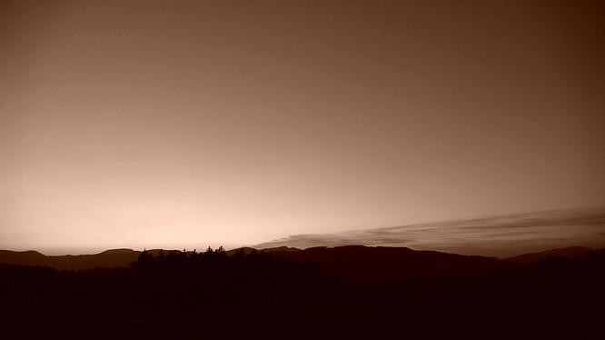Sonnenuntergang von Strengelbach (sepia)